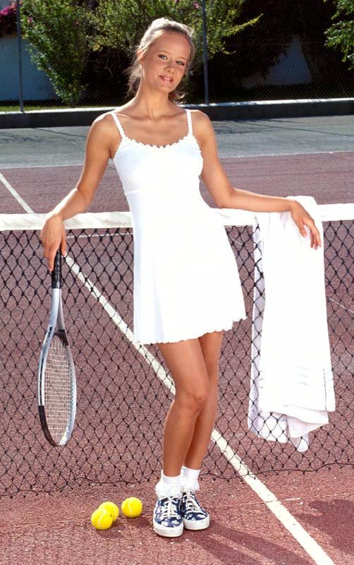 petite culotte de la joueuse de tennis