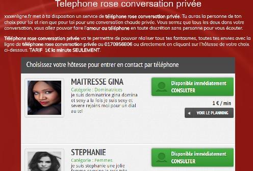 Nouveauté: Téléphone rose conversation privée xxxenligne.fr