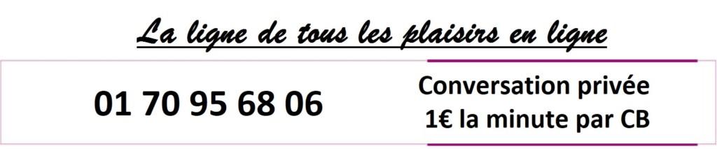 La ligne de tous les plaisir en conversation privée au 01 70 95 68 06 à 1€ la minute avec une hôtesse chaude et cochonne
