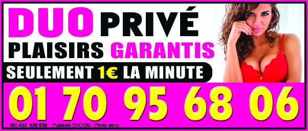 Conversation privée au 01 70 95 68 06 1€ la minute seulement